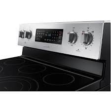Samsung Cooktops Electric Samsung 5 9 Cu Ft Self Cleaning Free Standing Electric