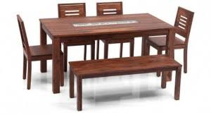 4 seater dining table with bench benches tables brighton capra 4 seater bench dining table
