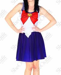 designer inspired casual dress cosplay sailor scouts sailor moon