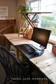 Home Decor With Wood Pallets by Pallet Farm Table Desk Part 3 The Reveal Funky Junk