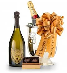 Champagne Gift Basket Champagne And Confections Champagne Gift Basket
