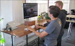 Diy Standing Desks Iron Pipe Standing Desk 5 Steps With Pictures Great Diy Standing