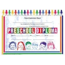 preschool certificates preschool diploma school publishing educational supplies