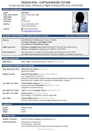 curriculum vitae layout 2013 calendar gallery of sle pilot resume pilot resume exles corporate