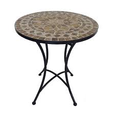 Tile Bistro Table Wholesale Wrought Metal Mosaic Slate Bistro Set Foldable Chairs