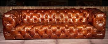 Leather Button Sofa Squidgy Button Tufted 3 Seat Leather Chesterfield Sofa An 3014