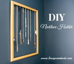 necklace holder diy images Easy diy necklace holder to organize your jewelry jpg