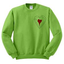 grinch christmas sweater green grinch heart crewneck sweater by teesandtankyoushop