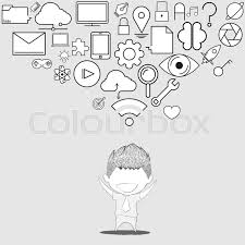 design thinking elements businessman happy template design thinking idea with social network