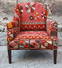 Outdoor Kilim Rug by Hizhali Rug Store Arm Chair Covered With Kilim