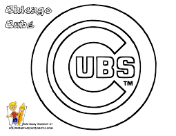 chicago cubs logo coloring page at bears pages glum me