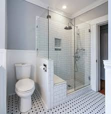 subway tile bathrooms bathroom traditional with electric fireplace