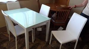 Ashley Furniture Baraga White Dining Table Set D Review YouTube - Ashley furniture white dining table set