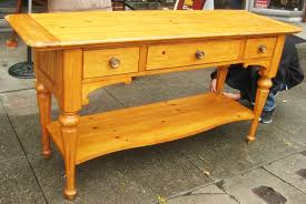 uhuru furniture u0026 collectibles sold large knotty pine console