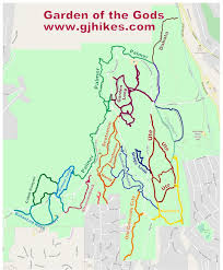 Great Loop Map Gjhikes Com Central Garden Trail