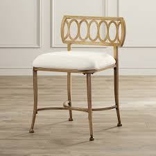 uncategorized gold vanity chair upholstered chairs for bathroom