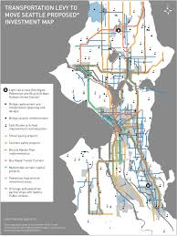 Seattle Map Pdf by Move Seattle Transportation Levy Could Build Half Of City U0027s Bike
