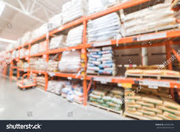 blur hardware store flatbed cart us stock photo 692469355