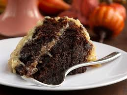 german chocolate cake feast with me