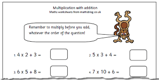 year 4 worksheet multiplication with addition maths blog
