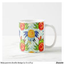 baby parrots doodle design coffee mug doodle designs doodles