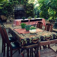 Patio Table Decor Give Your Backyard Some Bohemian Flair