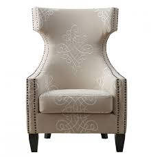 gramercy embroidered linen wing chair by tov furniture buy online