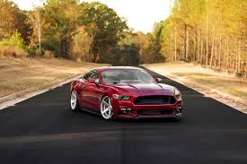 Black Mustang With Red Stripes Zac Pounds U0027 Static Ruby Red Ecoboost U2013 Slammedstangs Ford