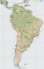 south america map aruba map of south america