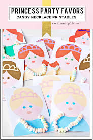 princess candy bags princess party favors candy necklace cards five marigolds