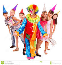 clowns for birthday birthday party of with clown stock photos image