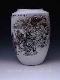 Porcelain Flower Vases Ornamental Floor Vase China Famous Master Work Hand Painted
