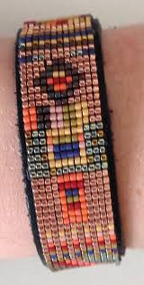 beaded leather cuff bracelet images Delica bead bracelet on leather cuff mirrix tapestry bead looms jpg