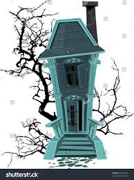 haunted halloween witch house isolated on stock vector 82405255