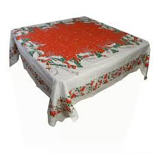 Christmas Table Cloths by Amazon Com Holiday Home Cotton Tablecloth Christmas Tablecloth