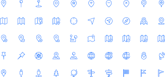 Google Maps Icon Squid Ink Professional Web Icons 2 000 Line Icons