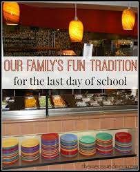 family dinner out a book an end of the school year tradition