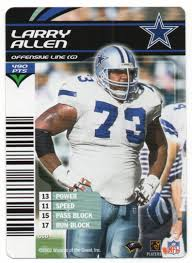 Larry Allen Bench Press A Pack To Be Named Later 2003 Nfl Showdown Sports Card Game
