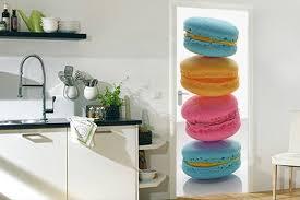 stickers porte cuisine sticker porte cuisine macarons tricolores izoa