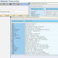 sap t code description table learn sap transaction codes techskills by moovar groups