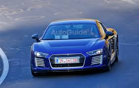 Audi R8 Blue - audi r8 e tron looks stunning in blue on the nurburgring