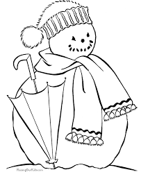 printable christmas coloring pages snowman