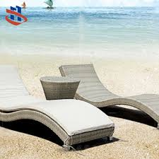 Outdoor Recliner Chairs Flat Round Rattan Recliner Lounger Lawn Chair Stackable Pool Side