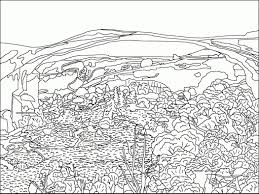 coloring pages mountain scene beauty mountains coloring