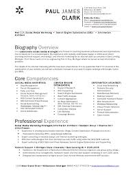 Sample Core Competencies For Resume by Social Media Marketing Resume Sample For Social Media Marketing