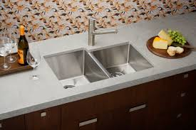kitchen stainless kitchen sink design matched with black granite
