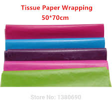 tissue wrapping paper 50x70cm 50pc l colorful single copy tissue paper wrapping wine