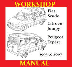 fiat scudo peugeot expert citroen jumpy workshop service repair