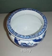 Hand Painted Vase Imari Ware Blue U0026 White Hand Painted Vase Flowers U0026 Birds Pattern