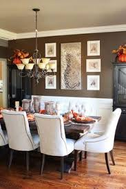 Dark Wood Dining Table With Gray French Dining Chairs French - Dining room walls